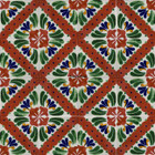 hacienda Mexican tiles terracotta green