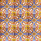 Decorative Mexican Tiles yellow blue white
