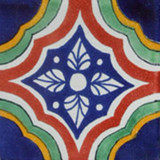 hand made Mexican tile terracotta green