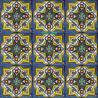 old world Mexican tiles white yellow