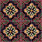 Moorish Mexican tiles black