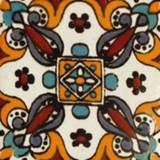 Mediterranean Mexican tile yellow blue