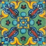 Spanish Mexican tile blue yellow
