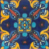 old European Mexican tile yellow white