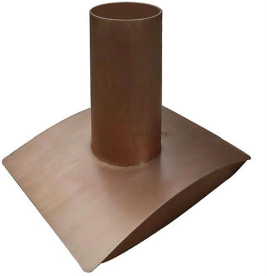 contemporary island copper range hood