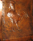 vent hood copper rooster pattern