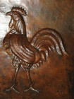 vent hood decorative rooster desing