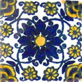 hacienda Mexican tile cobalt yellow