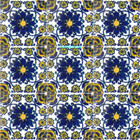 hacienda Mexican tiles cobalt yellow