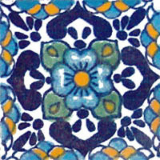 rustic Mexican tile blue