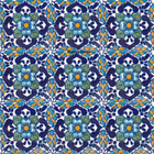 rustic Mexican tiles blue