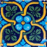 Arabic Mexican tile blue green