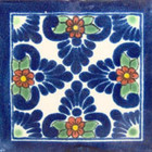 old world Mexican tile cobalt green
