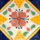 decorative Mexican tile yellow cobalt