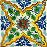 artisan crafted Mexican tile yellow