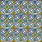rustic Mexican tiles blue green