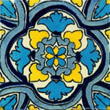 traditional Mexican tile blue yellow