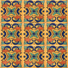 Southern Mexican tiles terracotta green