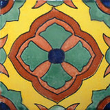 Arabic Mexican tile green terracotta