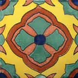 Arabic Mexican tile green terracotta