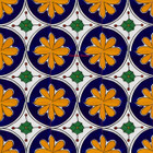 old world Mexican tiles cobalt yellow