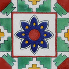 Moorish Mexican tile green blue