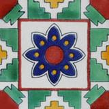 Moorish Mexican tile green blue