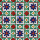 Moorish Mexican tiles green blue