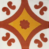 Mexican tile terracotta yellow white