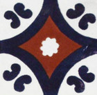 Mexican tile cobalt terracotta