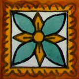 Mexican tile terracotta yellow