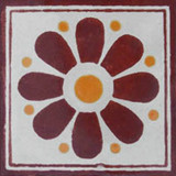old world Mexican tile terracotta