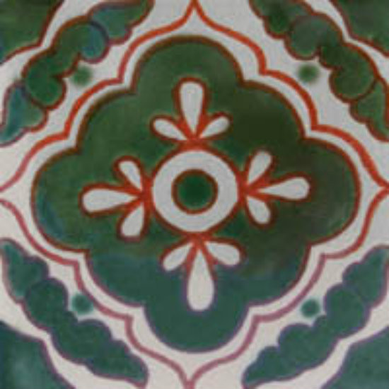 hand crafted Mexican Tile Green