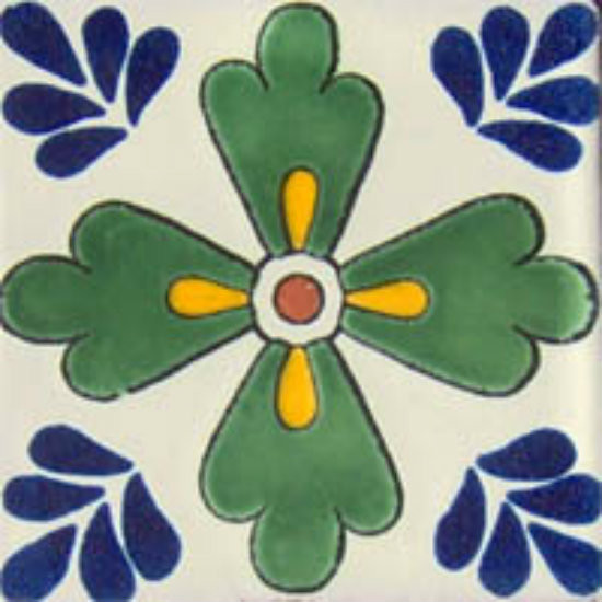 rustic Mexican tile green