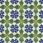 rustic Mexican tiles green