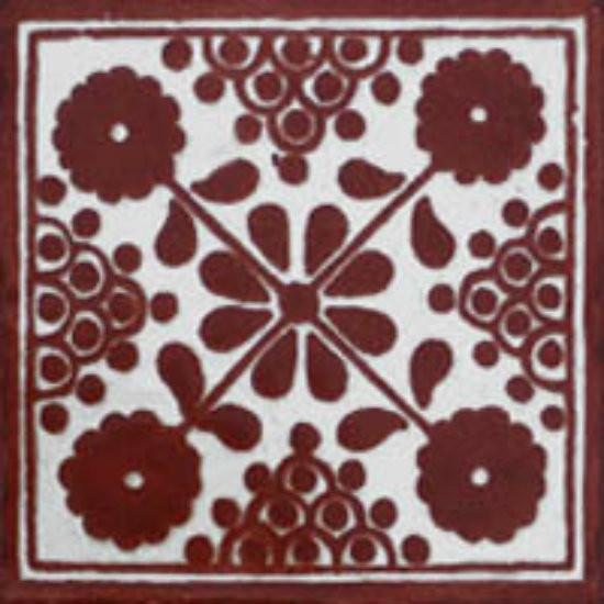Arabic Mexican tile dark brown