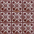 Arabic Mexican tiles dark brown
