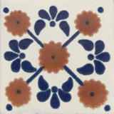 folk art Mexican tile terracotta