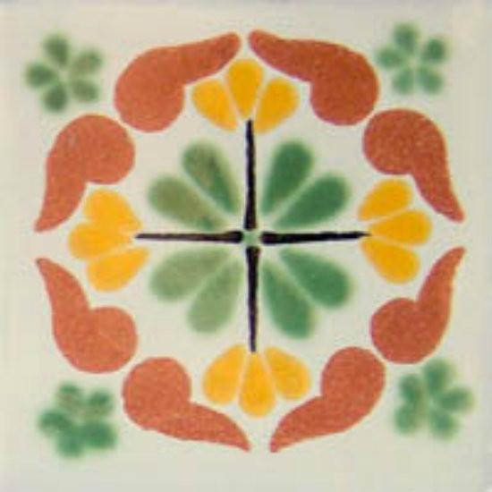 Moorish Mexican tile terracotta