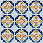 Southern Mexican tiles blue