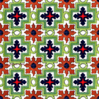 Arabic Mexican tiles green cobalt
