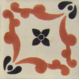 old world Mexican tile black