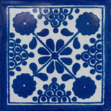 Moorish Mexican tile blue