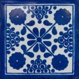 Moorish Mexican tile blue