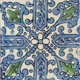 Spanish Mexican tile green