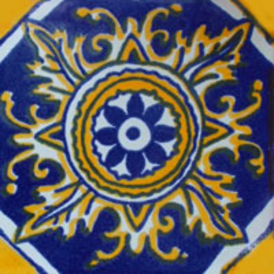 old European Mexican tile yellow