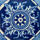 old world Mexican tile white