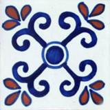 Mexican tile terracotta blue white