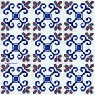 Mexican tiles terracotta blue white