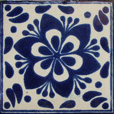 hacienda Mexican tile blue white